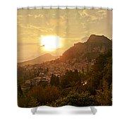Sunset Over Sicily Shower Curtain