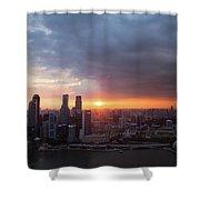 Sunset Over Singapore Shower Curtain