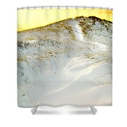 Sunset Over Snow Dune In Cape Cod Shower Curtain
