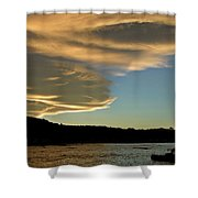 Sunset Over South Island Of New Zealand Shower Curtain