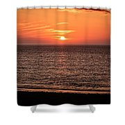 Sunset Over St. Ives Bay Shower Curtain