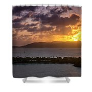 Sunset Over St. Thomas Shower Curtain
