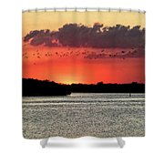 Sunset Over Tampa Bay 2 Shower Curtain