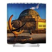 Sunset Over The Adler Planetarium Chicago Shower Curtain