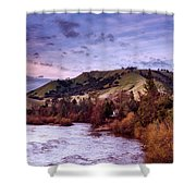 Sunset Over The American River Shower Curtain