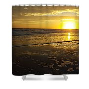 Sunset Over The Beach Shower Curtain