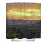 Sunset Over The Bluestone Gorge - Pipestem State Park Shower Curtain
