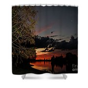 Sunset Over The Caloosahatchee Shower Curtain