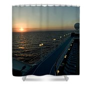 Sunset Over The Caribbean Sea As Seen Shower Curtain
