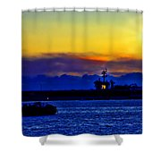 Sunset Over The Carl Vinson Shower Curtain