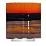 Sunset Over The Denison Dam Shower Curtain