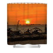Sunset Over The Gulf 1 Shower Curtain