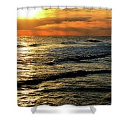 Sunset Over The Gulf Shower Curtain