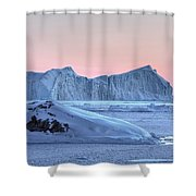 sunset over the Icefjord - Greenland Shower Curtain