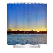 Sunset Over The Jefferson Memorial  Shower Curtain