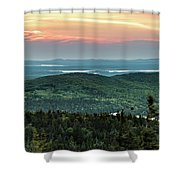 Sunset Over The Lakes Shower Curtain