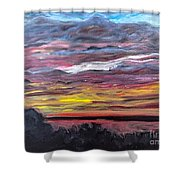 Sunset Over The Mississippi Shower Curtain