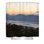 Sunset Over The Mountaintops Shower Curtain