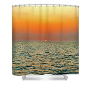 Sunset Over The Ocean In Galapagos Shower Curtain