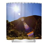 Sunset Over The Olgas Shower Curtain