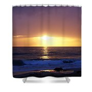 Sunset Over The Pacific Shower Curtain