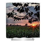 Sunset Over The Plains Shower Curtain