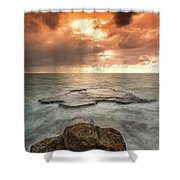 Sunset Over The Sea In Israel Shower Curtain