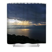 Sunset Over The Sea Of Galilee Shower Curtain