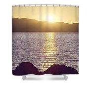 Sunset Over The Straits Shower Curtain by Cindy Garber Iverson