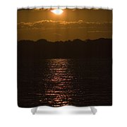 Sunset Over The Thames River Shower Curtain