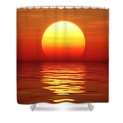 Sunset Over Tranqual Water Shower Curtain