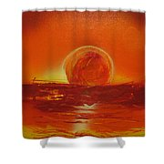 Sunset Over Troubled Waters Shower Curtain