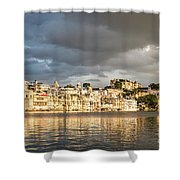 Sunset Over Udaipur Shower Curtain