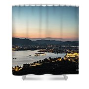 Sunset Over Udaipur In India Shower Curtain