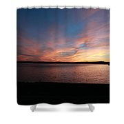 Sunset Over Wachusett Reservoir  Shower Curtain