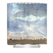 Sunset Over Wharton County Shower Curtain