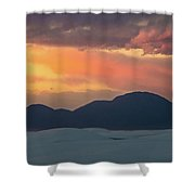 Sunset Over White Sands Shower Curtain