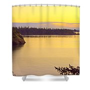 Sunset Over Widbey Island 8x12 Shower Curtain