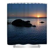 Sunset Over Wilson Lake Shower Curtain