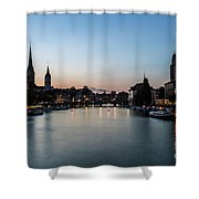 Sunset Over Zurich Shower Curtain