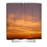 Sunset Ovr Lake Michigan Chicago Il Usa Shower Curtain