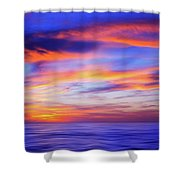 Sunset Palette Shower Curtain