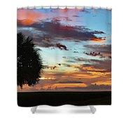 Sunset Palm Florida Shower Curtain