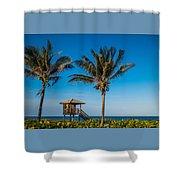 Sunset Palms Delray Beach Florida Shower Curtain