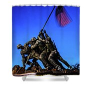 Sunset Photo At The Iwo Jima Monument Shower Curtain