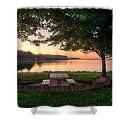 Sunset Picnic Shower Curtain