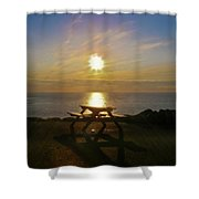 Sunset Picnic Shower Curtain