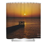 Sunset Pier Shower Curtain