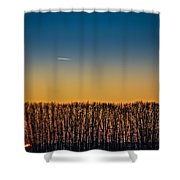 Sunset Plane Shower Curtain