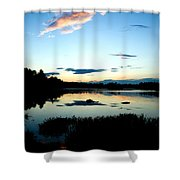 Sunset Pond Shower Curtain